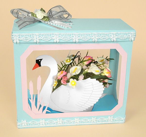 A4 Card Making Templates for 3D Flower Basket /& Display Box by Card Carousel