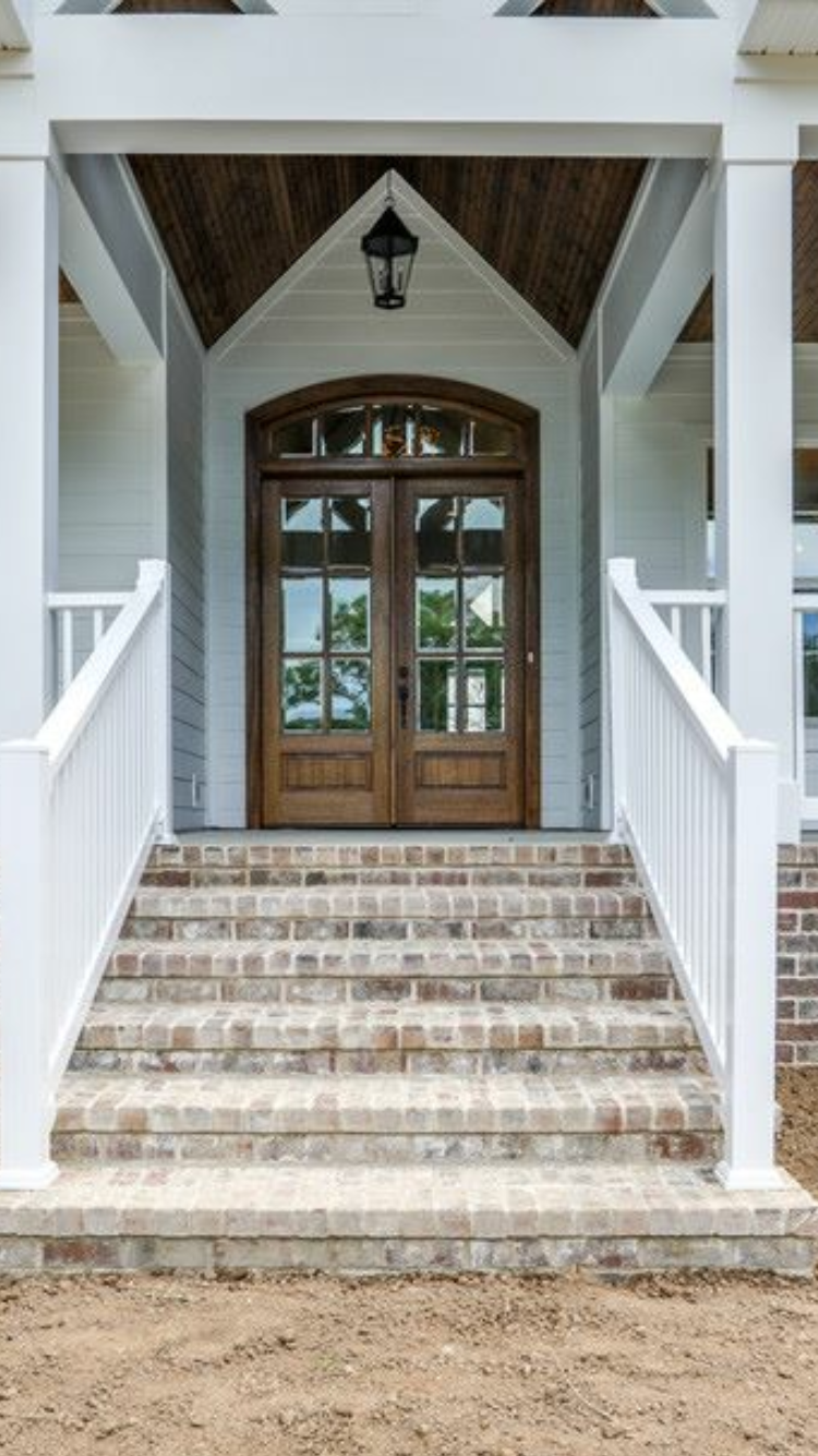 Best Front Doors Brick Steps Porch Design House With Porch 400 x 300