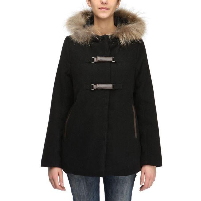 Très NORTHLAND Manteau Capuche Femme Noir - Achat / Vente manteau  OA33