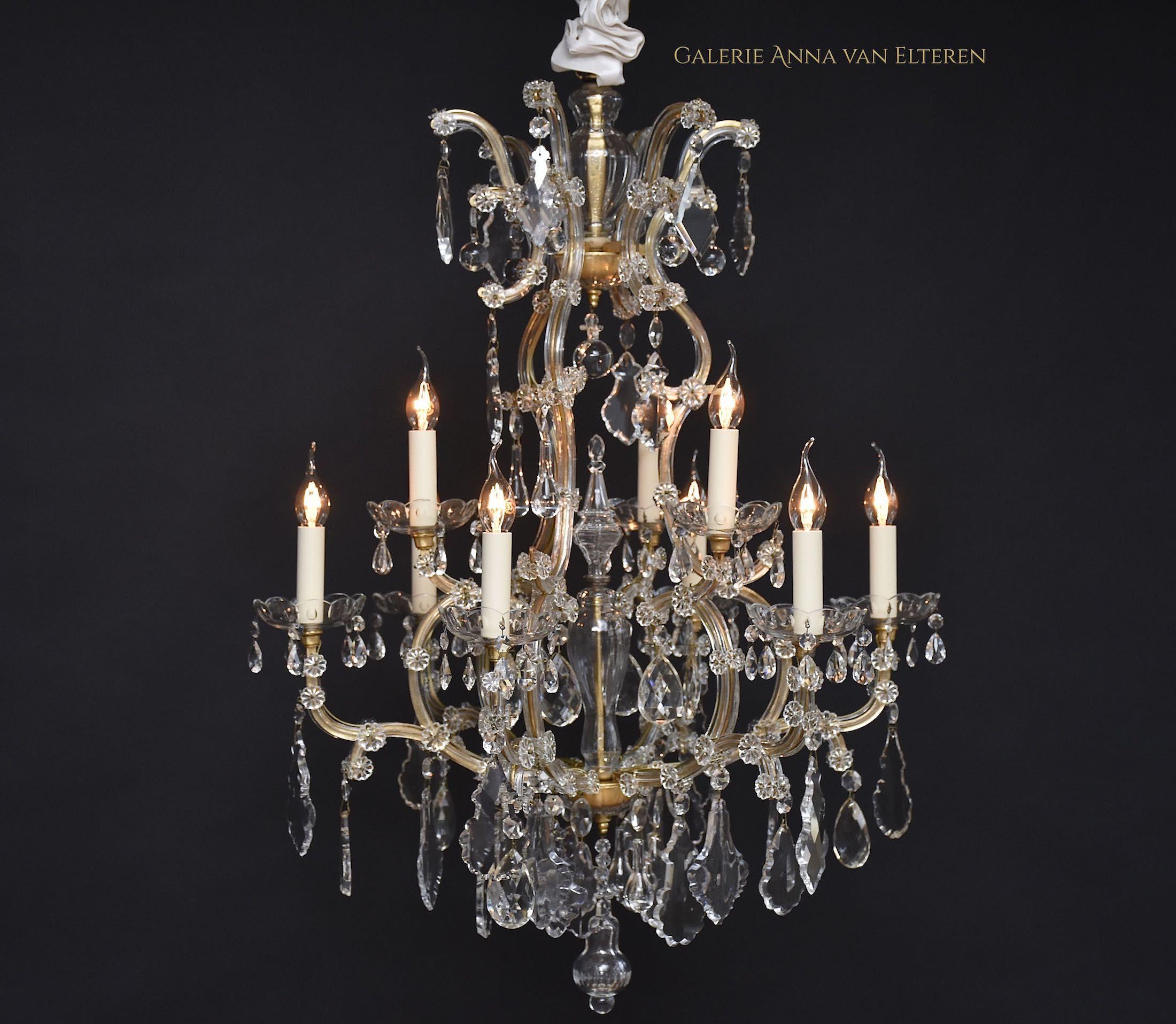Old Murano chandelier crystal chandeliers restorations