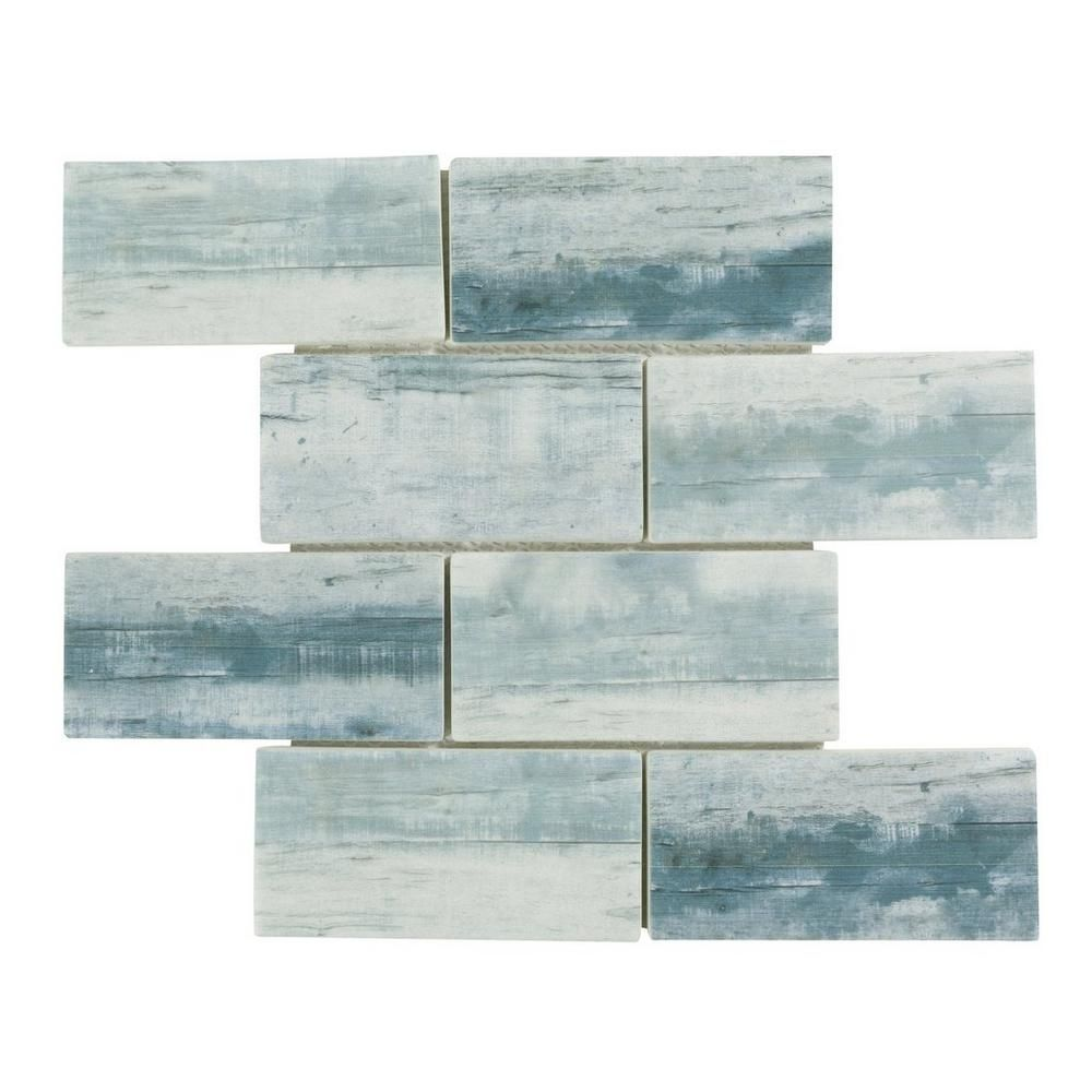 Mariners Cove Glass Mosaic - 3in. x 6in. - 100464288 | Floor and ...