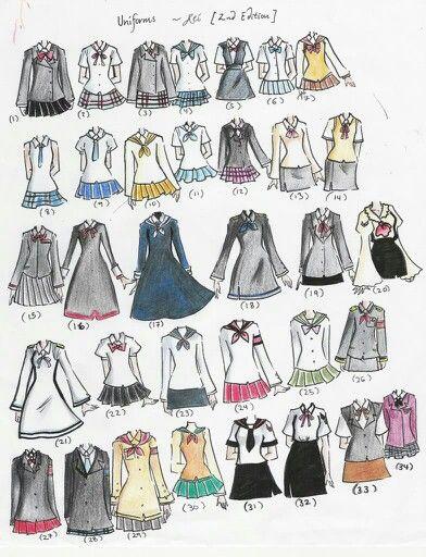 Vestidos Para Dibujar Dress Ideas Drawings Manga
