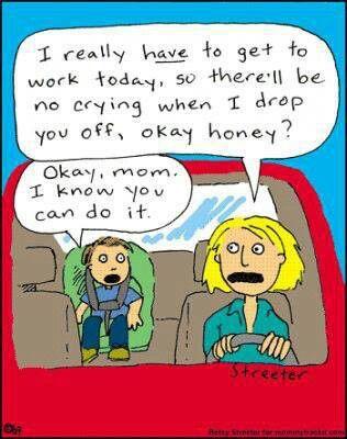 Sin llorar, mamá! Eh?