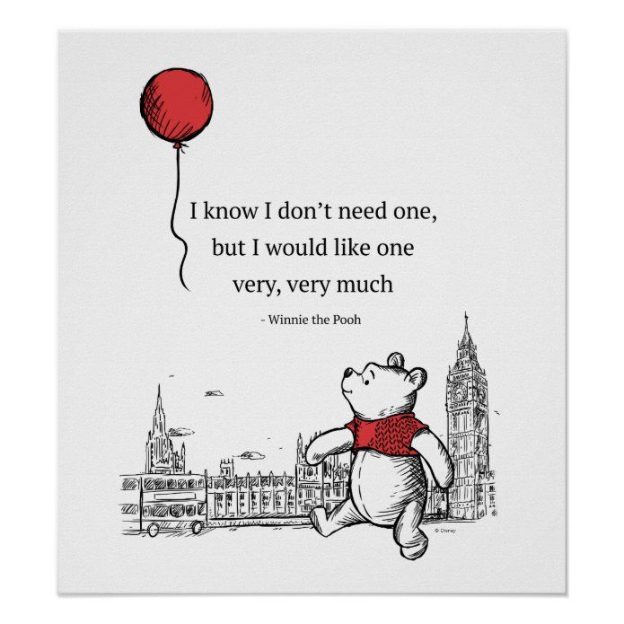 Winnie the Pooh | I Know I Don't Need One Quote Poster | Zazzle.com