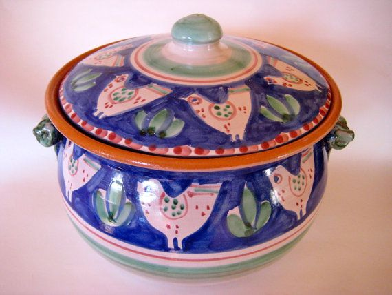 Vietri Italian Tureen with Chicken - C&any Solimene Pottery from Italy PRICE REDUCED & Vietri Italian Tureen with Chicken - Campany Solimene Pottery from ...