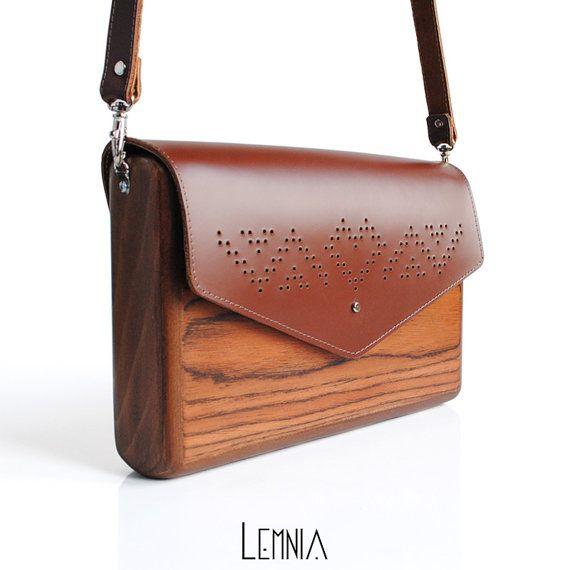 Lemnia Handcrafted Madera Bolsa Corazón De Palo Por Atelierlemnia