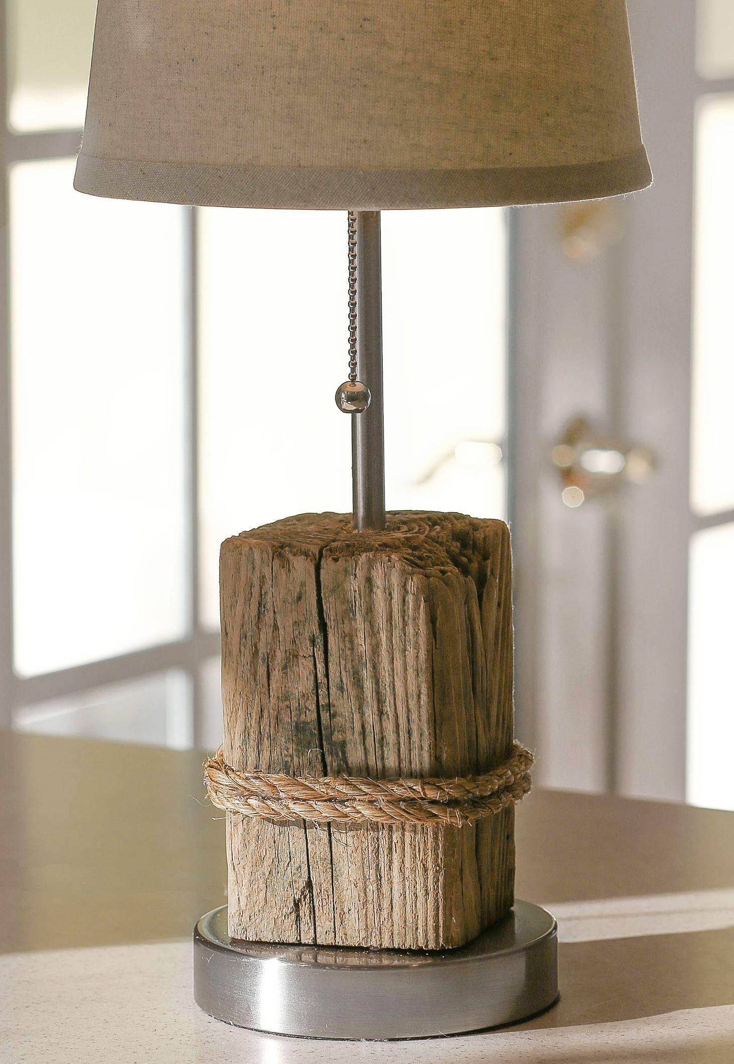 Driftwood Table Lamp Driftwood Lamps Coastal Style Furniture Coastal Style Bathroom