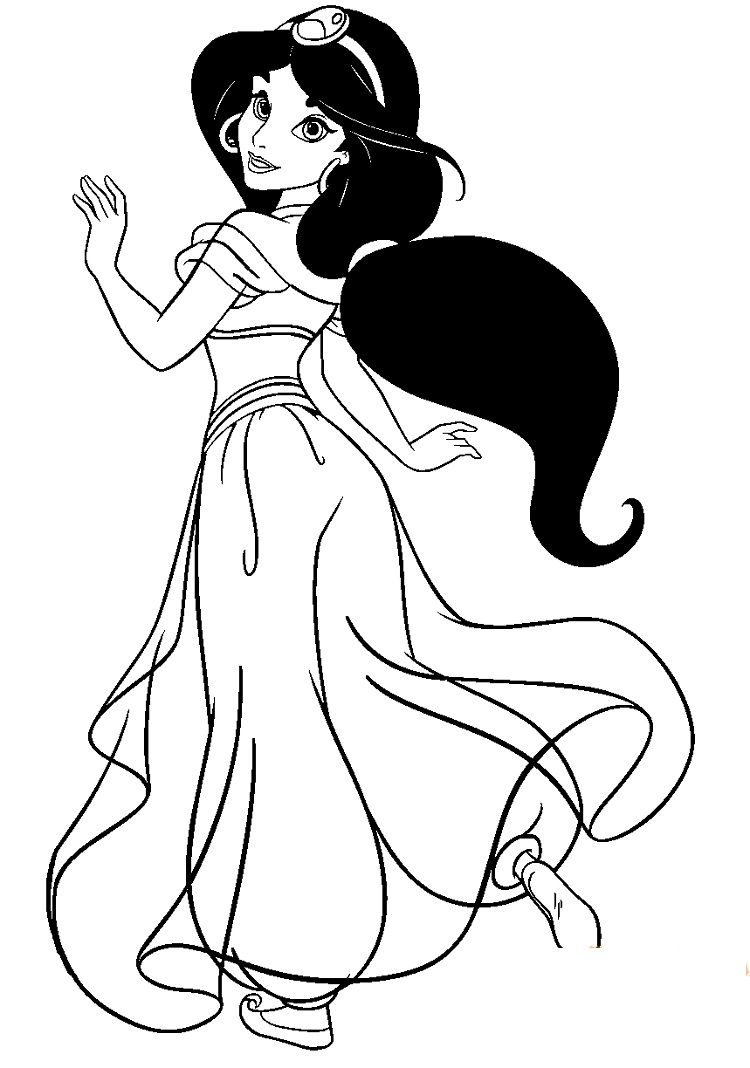 princess jasmine coloring book pages Coloring Pages For