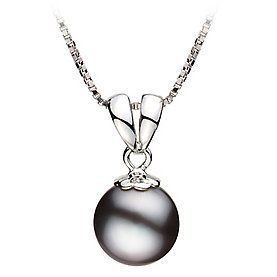 PearlsOnly Sally Black 9.0-9.5mm AA Freshwater Sterling Silver With Rhodium Plated Cultured Pearl Pendant PearlsOnly. $55.00. Save 80% Off!