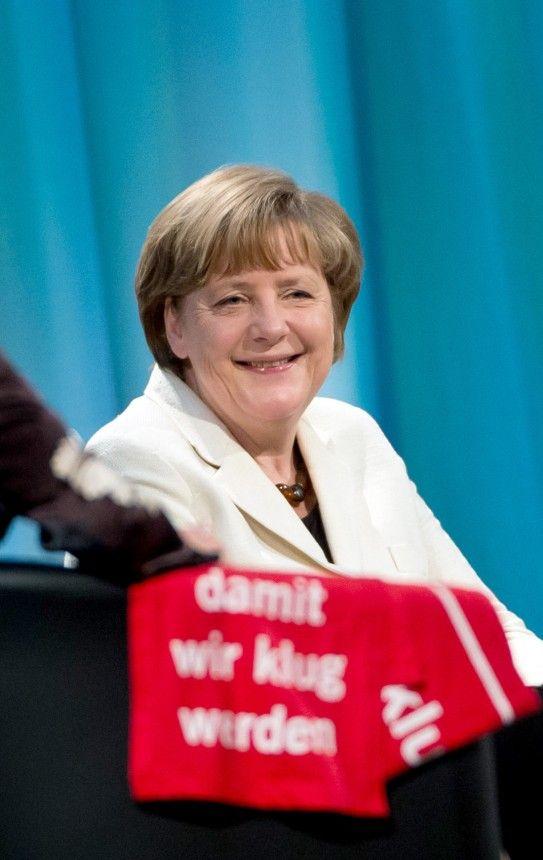 Angela Merkel auf dem Evangelischen Kirchentag 2015