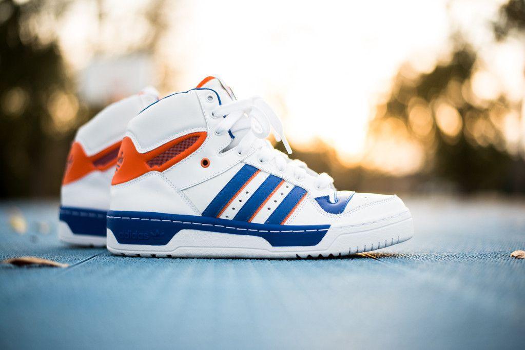 Adidas Attitude Hi White True Blue Orange Adidas Retro