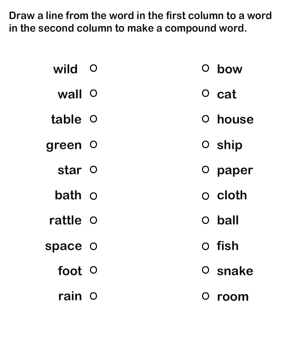Compound Words Printable Worksheets for Practice Grammar – Kindergarten Grammar Worksheets