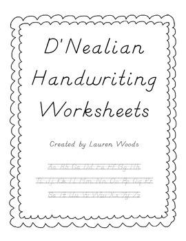 D'Nealian Handwriting Worksheets | Handwriting worksheets, Simple ...