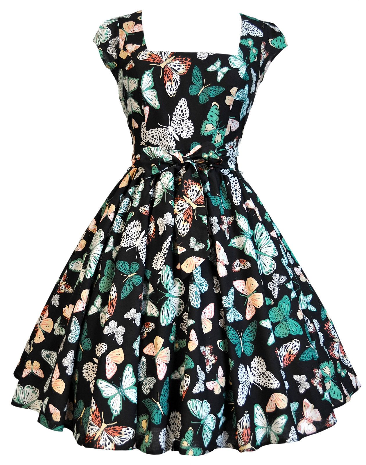 May 26th Suit Up Swing Style: Lady Vintage 50s Retro Cute Black Butterfly Swing