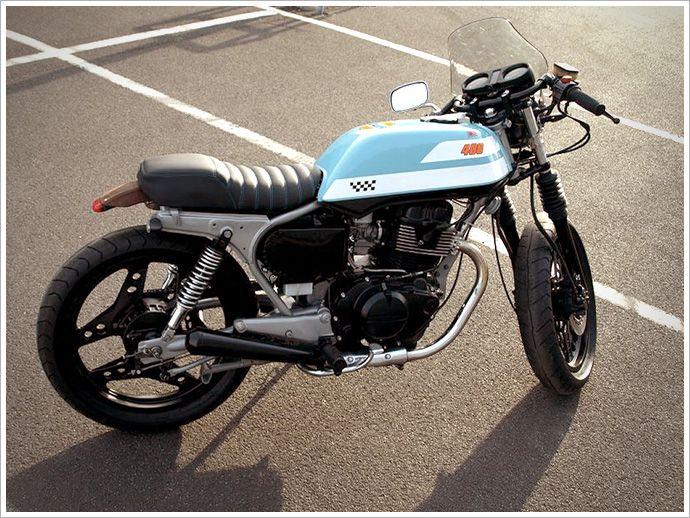 atj project's '83 honda cb400 café racer | project s, motorbikes