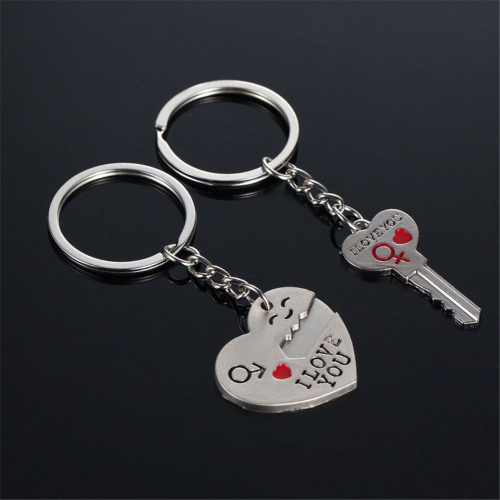 2016 Hot Sale I Love You Silver Heart Keychain Ring Keyring Key Chain Lover Romantic Creative Birthday Gift キーチェーン キーリング キーホルダー