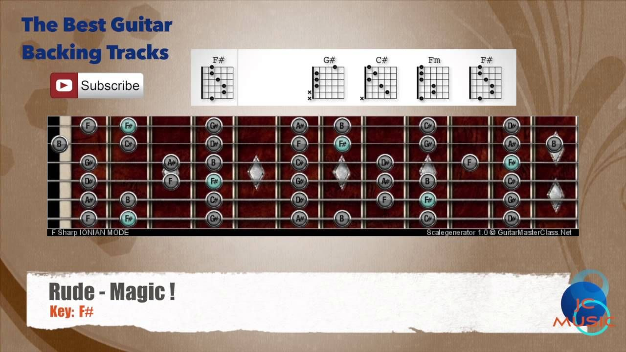 Rude Magic Guitar Backing Track With Scale Chart And Chords