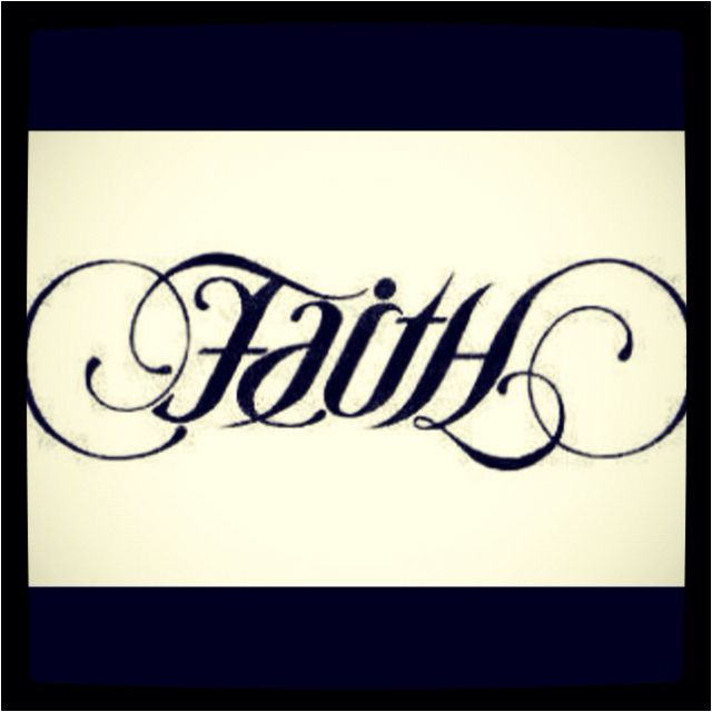 Tattoo Ambigram Generator: Love This Tattoo!!! Faith And Hope In One