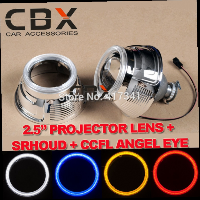 45.00$  Buy here - http://aligtz.worldwells.pw/go.php?t=2054393592 - 2.5 Inches mini HID Bi-xenon Projector Lens + Projector Mask + CCFL angel eye for Car Headlight H1 H4 H7 H11 9005 9006 45.00$