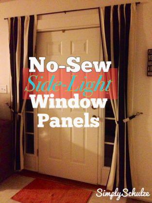 Diy No Sew Side Light Window Panels Light Window Treatments