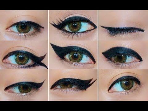 طريقة رسم الايلاينر بـ 9 اشكال مختلفة Different Eyeliner Looks Eyeliner Looks Simple Eyeliner