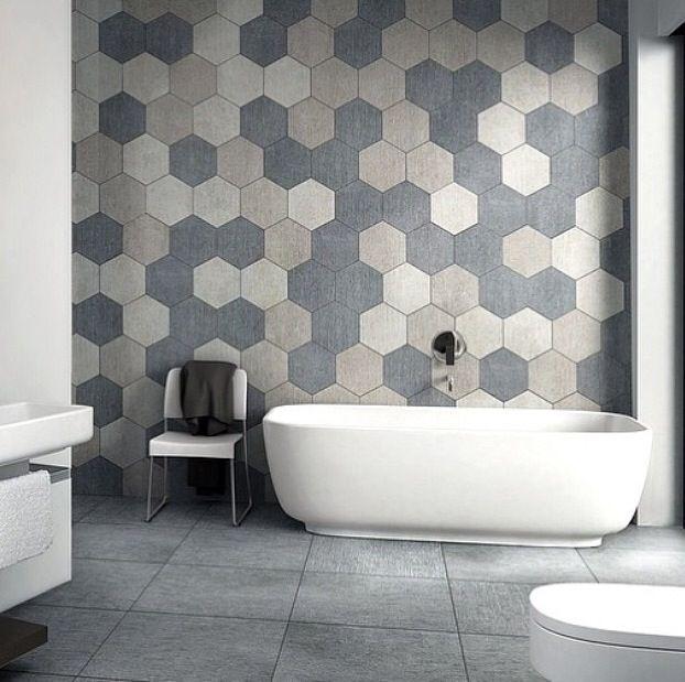 Hexagon tiles for the wall Baño Pinterest Baño