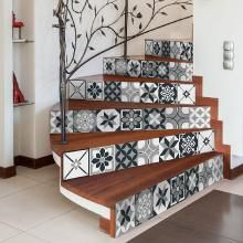Stickers escalier carrelages lisa x 2