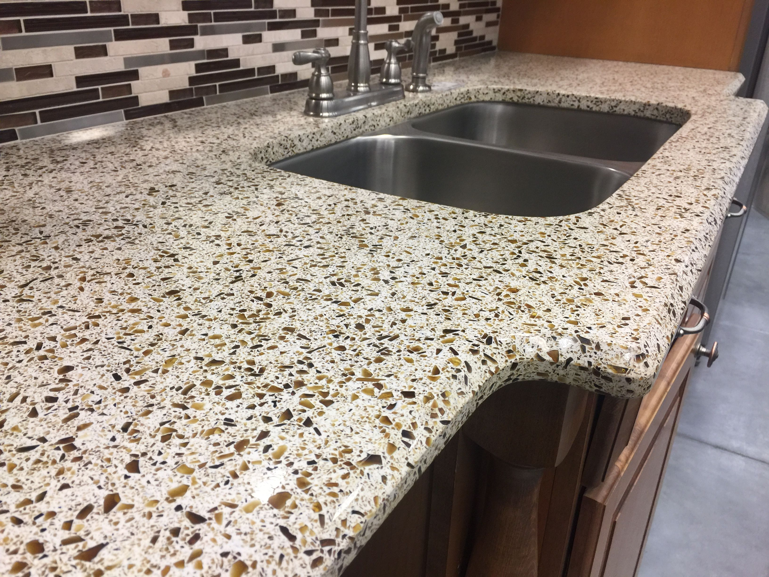 Curava Recycled Glass Countertops What Would You Do With These Wheat Counters From Curava
