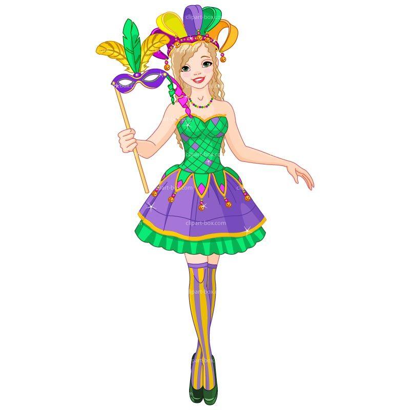 Mardi gras clipart cute girl in costume mardi gras - Clipartix ...