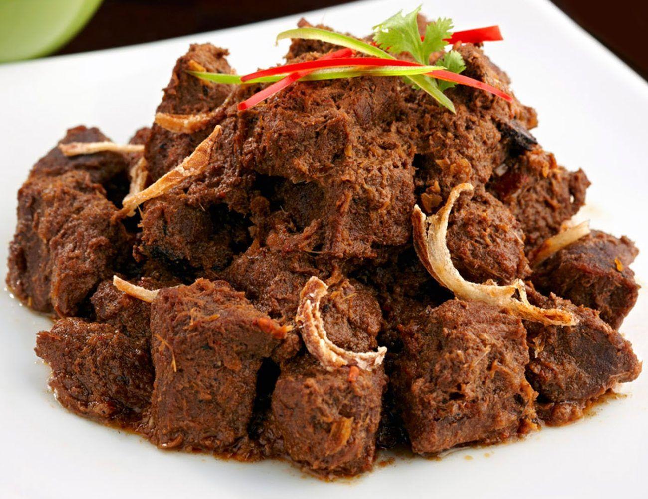 Malay Spicy Rendang Beef Rendang Daging Aroma Asian Recipe Beef Rendang Recipe Indonesian Food Food