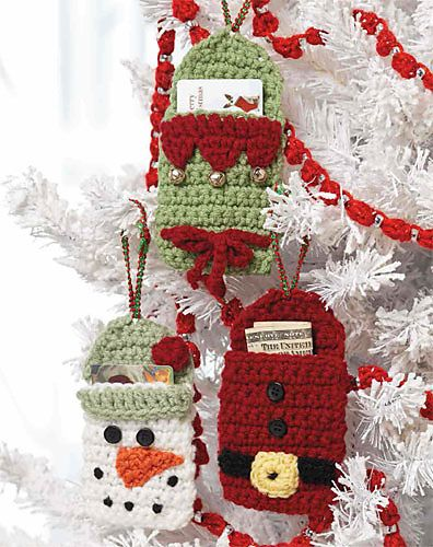 Gift Card Holders Pattern By Terry Day Christmas Crochet Crochet
