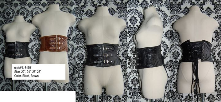 96762707ee Hoss leather waist cincher in black and brown