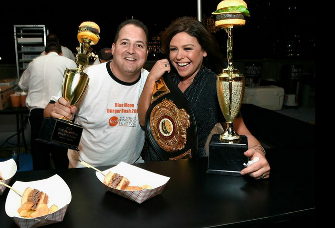 Photo of Josh Capon & Rachel Ray at Blue Moon Burger Bash presented by Pat LaFrieda Meats…