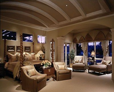 interesting master bedroom suite | Master Bedroom Suite Design-the ceilings are AMAZ-BALLS ...