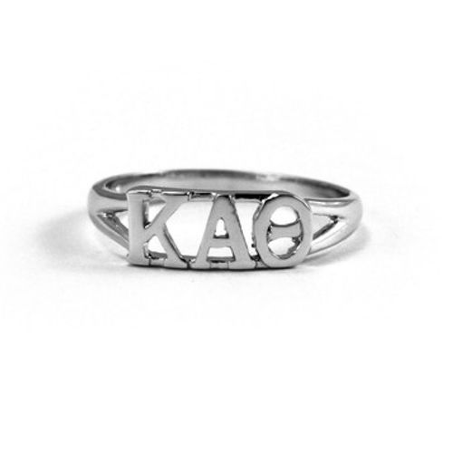 Show Your Kappa Alpha Theta Pride With This Sterling Silver Kappa Alpha Theta Ring Genuine Sterling Sterling Silver Gemstone Earrings Silver Sterling Silver