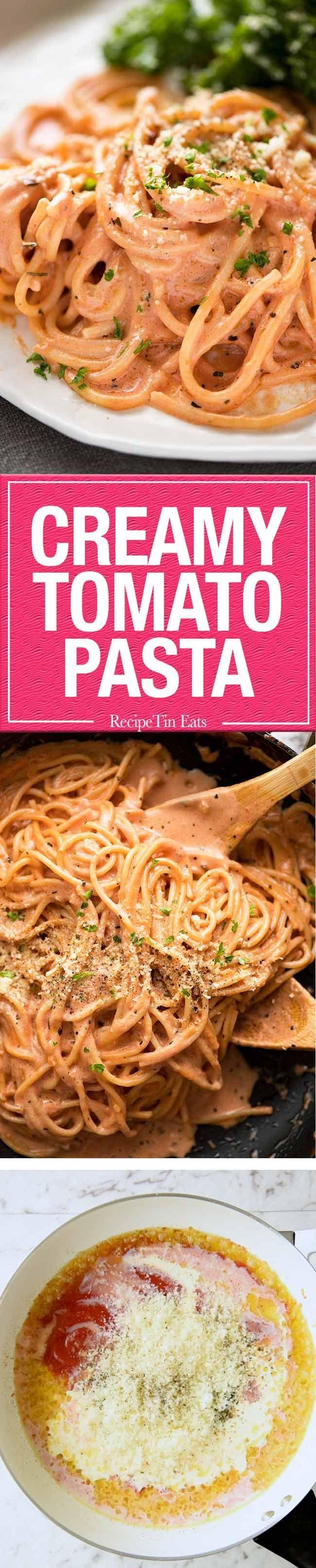 Creamy Tomato Pasta Recipe Creamy Tomato Pasta Pasta Recipes Creamy Pasta