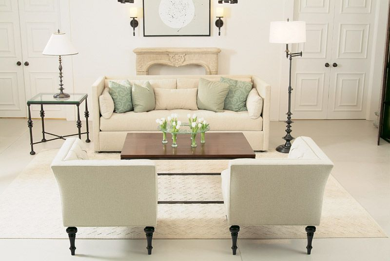 benrhardt corner chairs sofa, glass top end table and ...