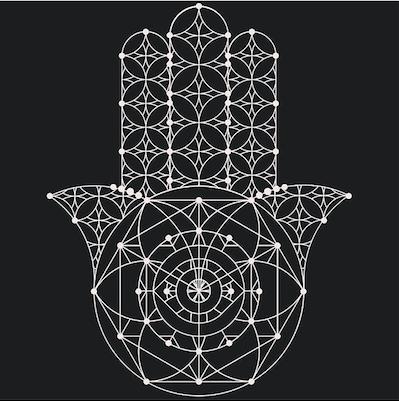 Pin By Trish Masanz On Ab Board For Quantumhand Geometric Nature Sacred Geometry Geometric Hamsa Tattoo