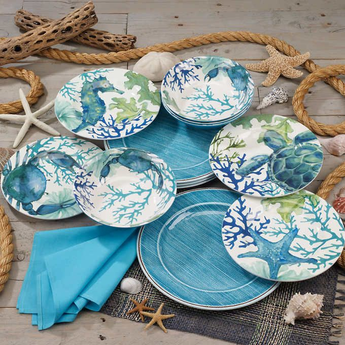 Pin By Gg On Lake House Decor Melamine Dinnerware Sets Melamine Dinnerware Ceramic Dinnerware Set
