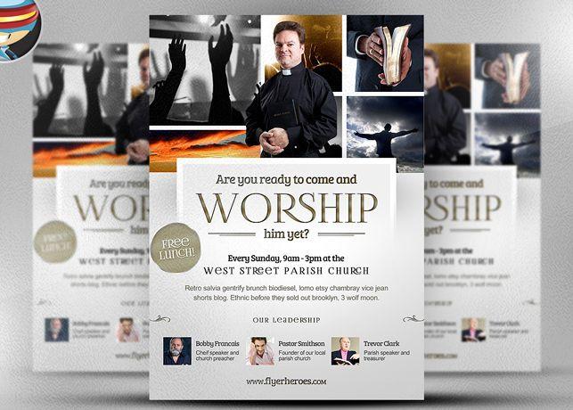Worship Church Christian Flyer Template is a fully editable - christian flyer templates