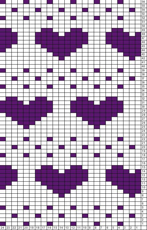 Tricksy Knitter Charts: heart gloves (72298) | Bordado A Mano ...