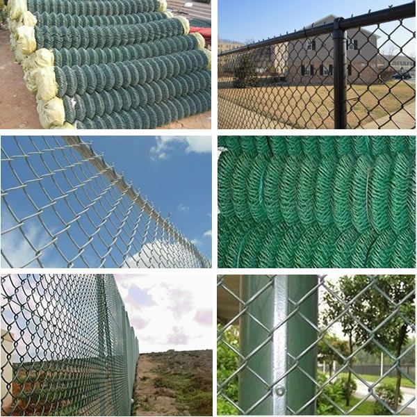 High quality chain link fence Material: Also known as rhombus wire ...