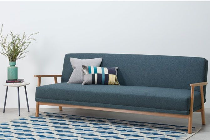 Lars Scandinavian-inspired sofa bed at Made | Retro ...