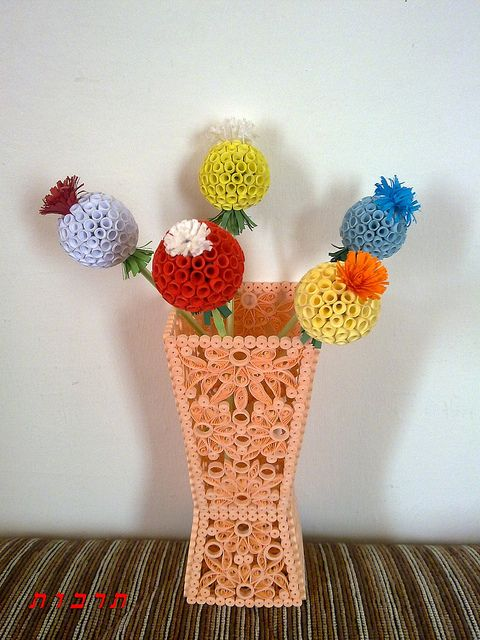 Amazing Quilled Flower And Vase