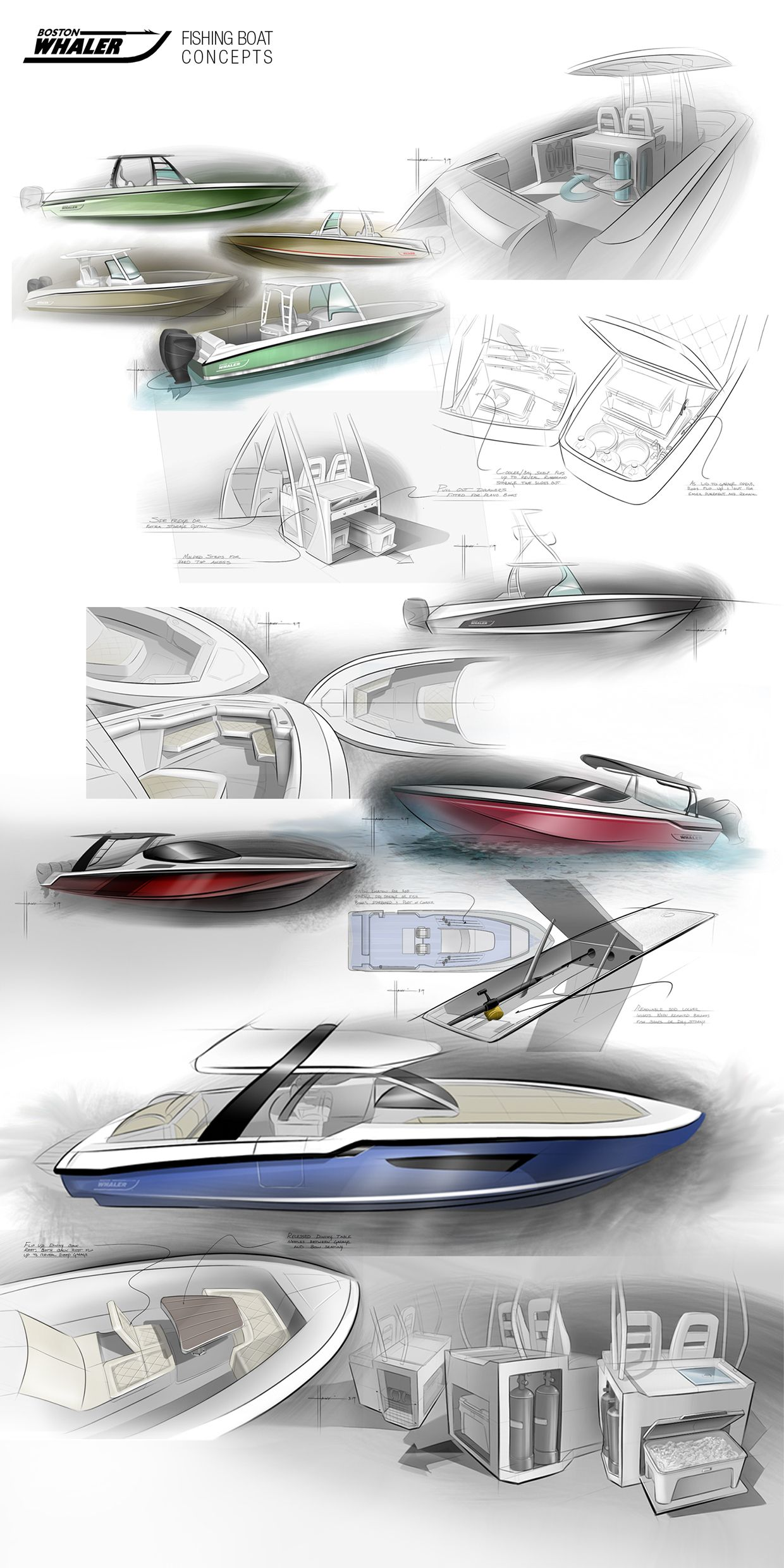 Marine Sketches 2 On Behance Boat Sketch