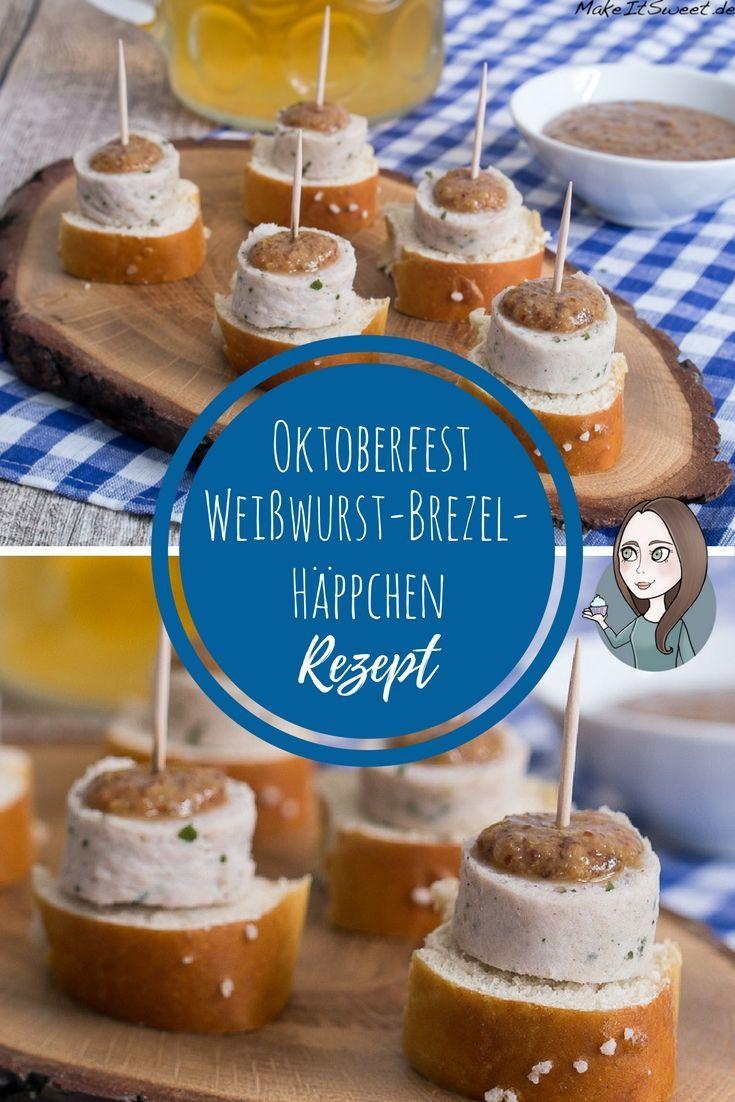 Weißwurst Häppchen zum Oktoberfest Rezept #octoberfestfood