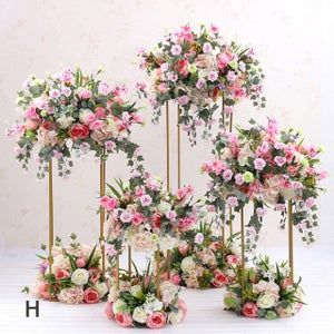 wedding centerpieces artificial flowers with stand