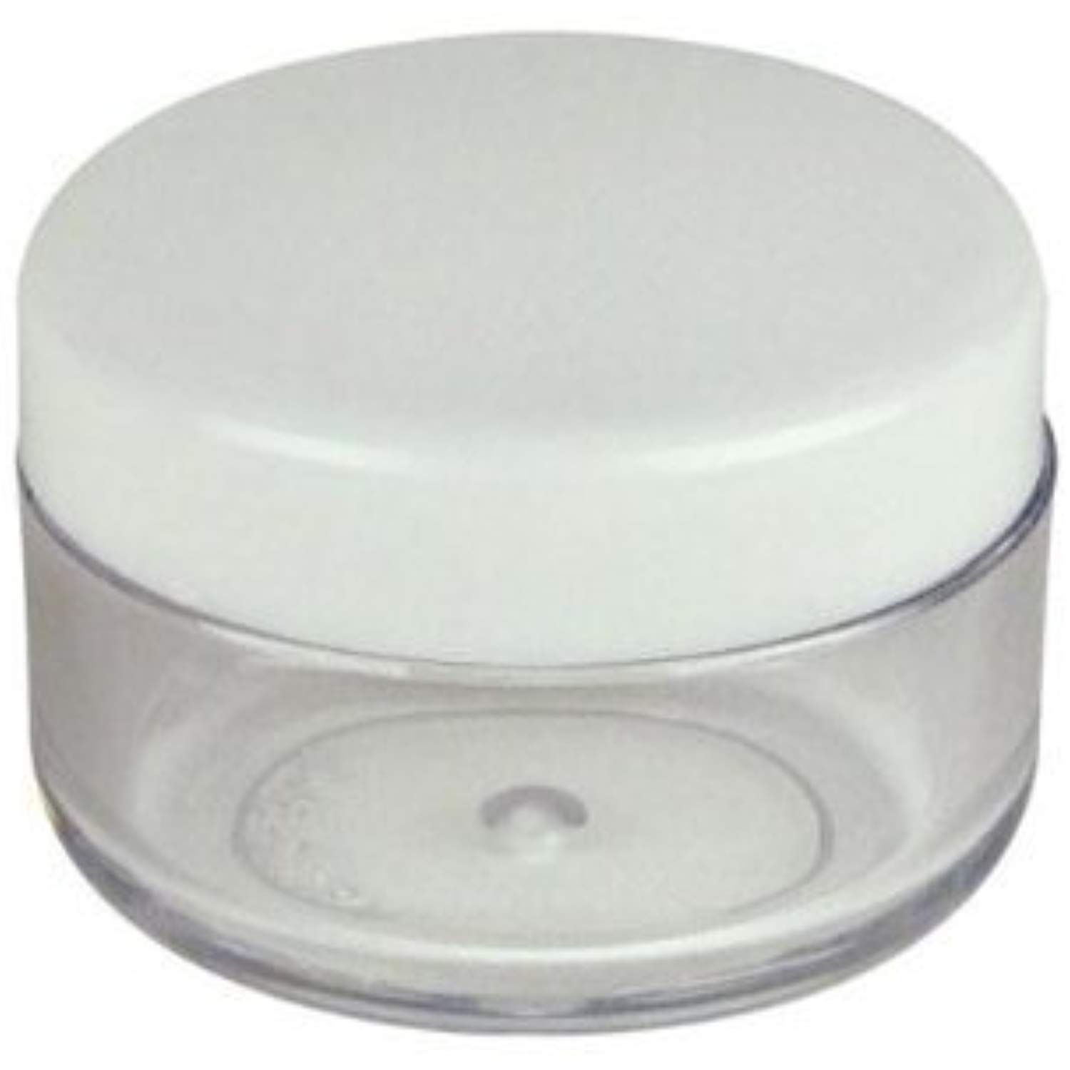 Premium Quality Bulk Order Of 500 Pieces New Empty White Lid Plastic Cosmetic Containers 5 Gram Size Jars P Cosmetic Containers Tools Accessories Eyeshadow