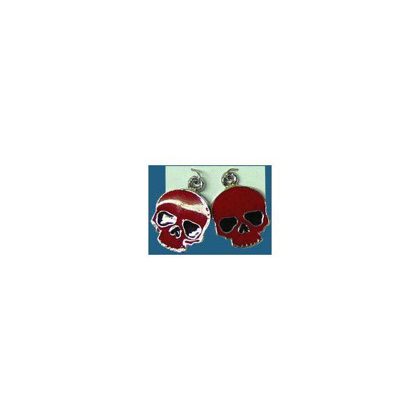 Red Half-skull Earrings from Slash 'N Burn ❤ liked on Polyvore