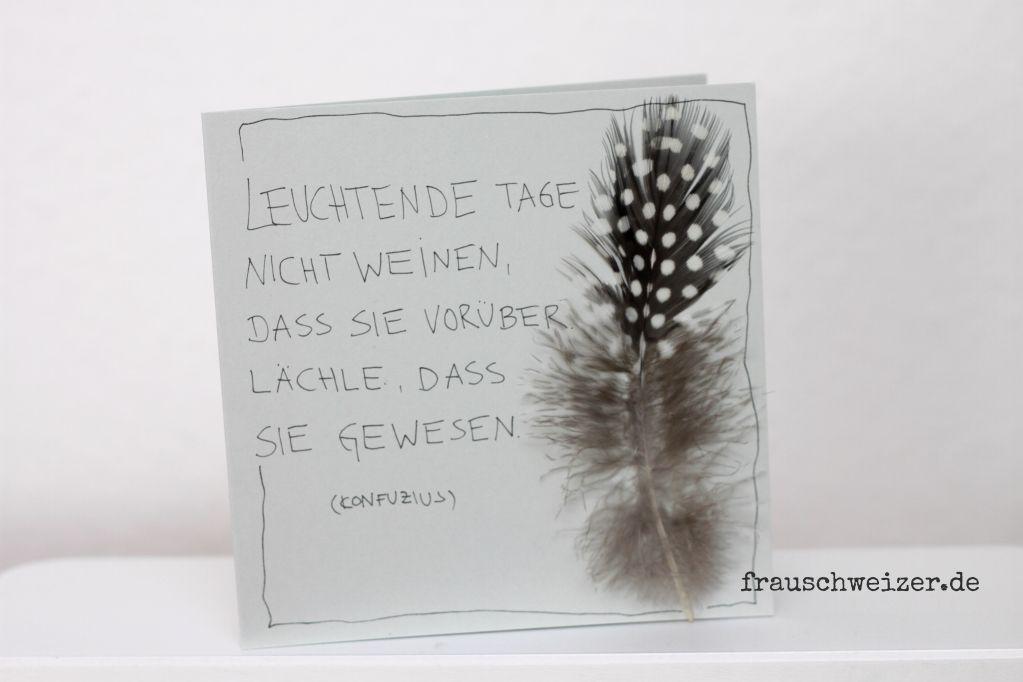 Beerdigung Karte.Handgemachte Karten Zum Nachbasteln Von Frauschweizer Karten Post